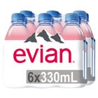 Evian Agua Mineral Natural 2 Pack 6x330ml