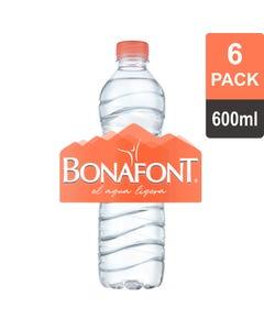 Agua Bonafont 600 Mililitros