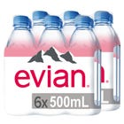 Evian Agua Mineral Natural 2 Pack 6x500ml