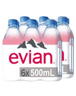 Evian Agua Mineral Natural 2 Pack 6x500ml