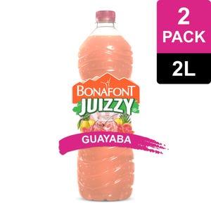 Juizzy Agua Fresca Con Pulpa Natural de Guayaba 2x2L