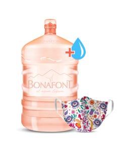 Garrafon Agua Bonafont 10 Litros y Tapabocas Xico
