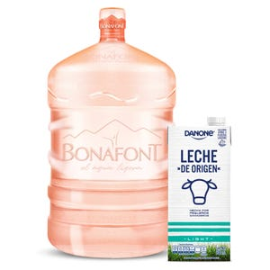 Líquido de agua Bonafont 20L mas Leche Light 946mL