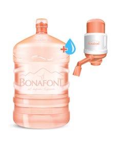 ENVASE Garrafont de 20 lts + Agua natural para Garrafont 20 lts + Bomba de agua MANUAL