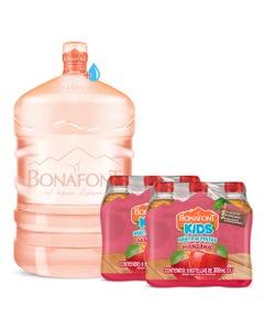 Envase mas Agua Bonafont 20L mas 2 Bonafont Kids Bebida con Jugo de Manzana 6x300mL