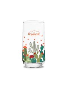 Vasos de Vidrio Bonafont Colección Nopales